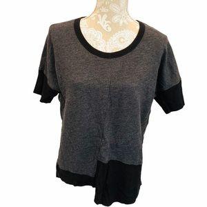 W by Wilt Black Knit Asymmetric Top SMALL